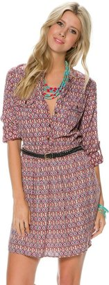 Angie Daniella Printed Shirt Dress