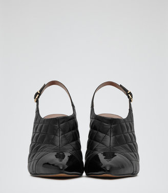 Reiss Coquette QUILTED SLINGBACK SHOES