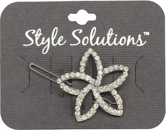 Style Solutions Flower Stone Metal Barrette