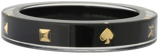 Kate Spade Lacquered Spade Pyramid Bangle (Black) - Jewelry