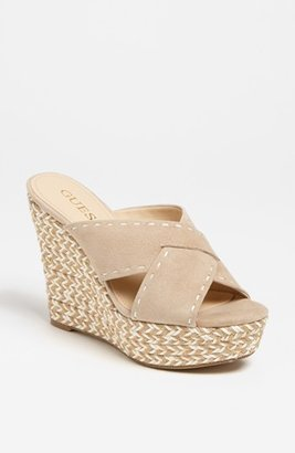 GUESS 'Laine' Sandal Beige 8.5 M