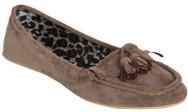 Wet Seal WetSeal Faux Suede Moccasin Taupe