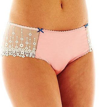 JCPenney Cosmopolitan Atlantis Embroidered Satin Hipster Panties