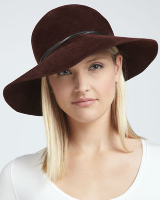 Eric Javits Moxi Lightweight Velour Hat, Wine