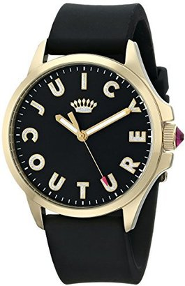 Juicy Couture Women's 1901188 Jetsetter Analog Display Quartz Black Watch $88 thestylecure.com