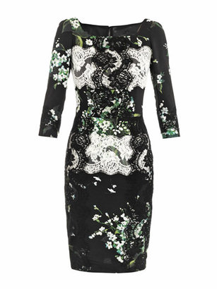 Dolce & Gabbana Lily of the Valley print fitted dress