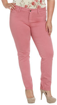 Wet Seal WetSeal Single Button Colorful Jegging Pink