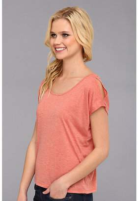 Silver Jeans Co. Cold Shoulder Tee