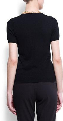 MANGO Buttons short sleeved jumper
