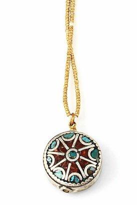 Vanessa Mooney Far Away Necklace in Brass Multi