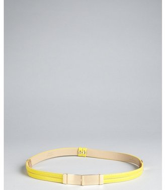 Robert Rodriguez citron leather slide lock skinny belt