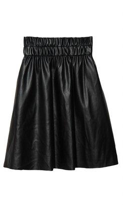 Derek Lam 10 Crosby Faux Leather Circle Skirt