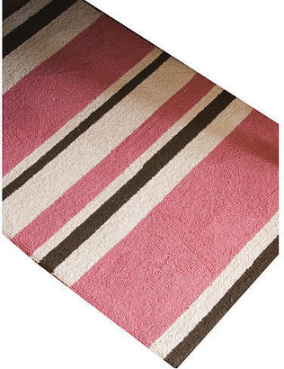 Glenna Jean Just Buggy Rug - Pink Stripe Hooked Wool