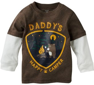 """Carter's mock-layer """"daddy's happy camper"""" tee - baby"""