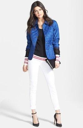J Brand Mid Rise Skinny Jeans (Blanc)