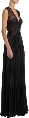 J. Mendel Lace Bustier Gown