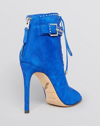 Brian Atwood Open Toe Lace Up Booties - Lamotte High Heel
