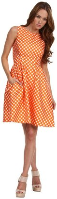 Kate Spade Gingham Tallulah Dress (Valencia Spring Gingham) - Apparel