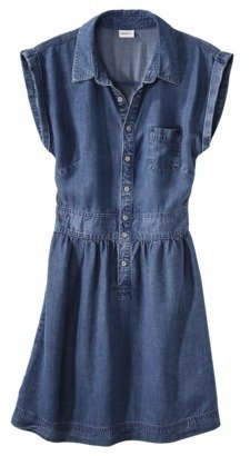 Merona Women's Chambray Shirt Dress -Medium Wash