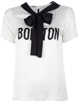 Moschino Cheap & Chic bow neck t-shirt
