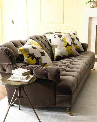 "Haute House Berlin"" Velvet Sofa & ""Floral Mod"" Pillow"