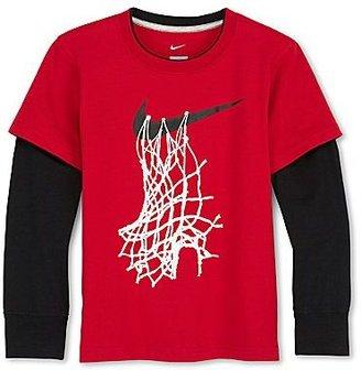 Nike Swoosh Badge Layered Tee - Boys 2t-7