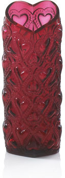 "Lalique Red ""Amour"" Vase"