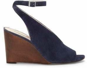 Louise et Cie Piarissa Suede Ankle-Strap Wedge Sandals
