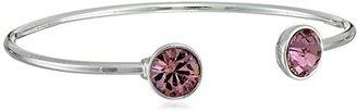 "Oroclone Silver Plated 10mm Light Amethyst Swarovski Crystal June Bangle Bracelet, 2.25"" $34.99 thestylecure.com"