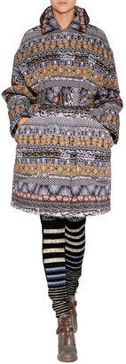 Kenzo Belted Patterned Coat