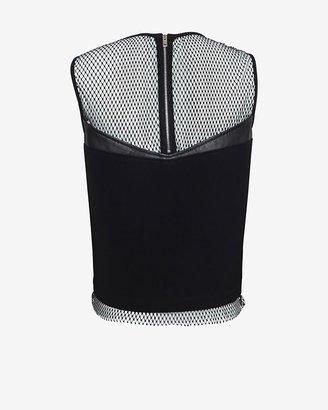 Rag and Bone Rag & bone Smith Leather/Mesh Detail Tank