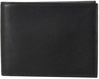 Bosca Nappa Vitello Collection - Executive ID Wallet (Black Leather) Bi-fold Wallet