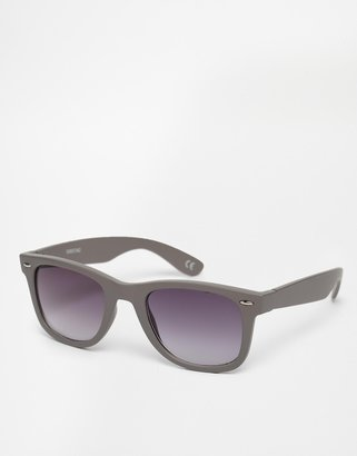 Asos Wayfarer Sunglasses in Matte Gray