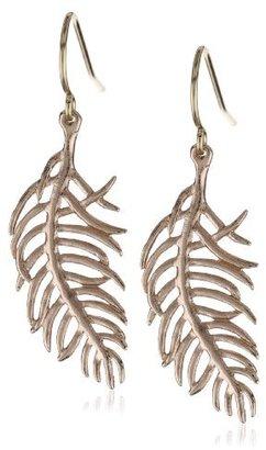 "Gorjana Feather"" Rose Gold-Tone Small Charm Earrings"