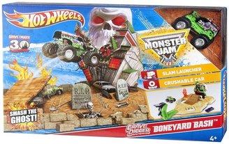 Hot Wheels Monster Jam Grave Digger Boneyard Bash Playset