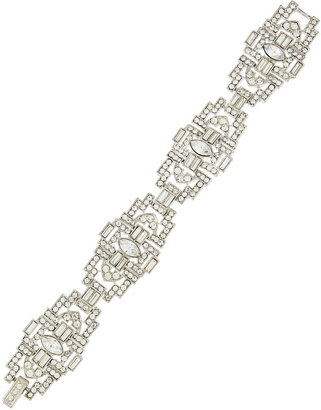 Kenneth Jay Lane Rhinestone Deco Bracelet