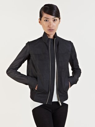 Rick Owens Women's Leather Bomber Jacket