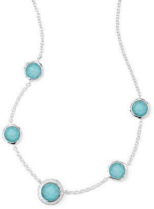 Ippolita Stella Necklace in Turquoise Doublet & Diamonds 16-18""