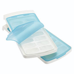 Container Store No Spill Ice Cube Tray White/Blue