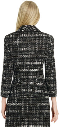 Jones New York 3/4 Sleeve Jacket with Ruffled Front
