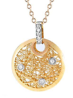 Reiss I.Reiss Round Nest Satin High Polish Pendant Necklace
