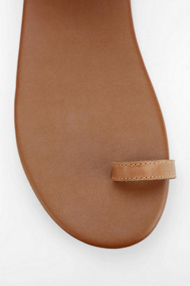 N.Y.L.A. Leather Ankle-Wrap Sandal