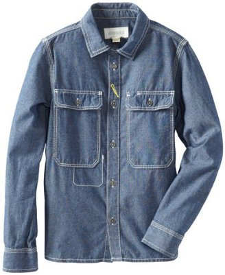 Diesel Boys 8-20 Chyppi Chambray Rinse Woven with Embroidery On Back