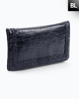 Chico's Black Label Blue Leather Clutch