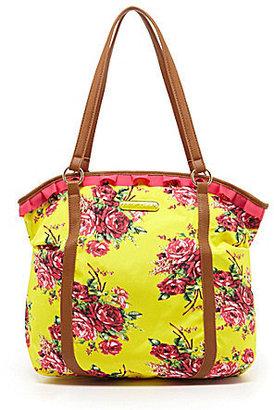 Betsey Johnson Floral Explosion Nylon Tote Bag