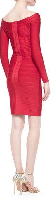 Herve Leger Long-Sleeve Bandage Dress