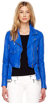 Michael Kors Cropped Crinkled Leather Jacket, Women's