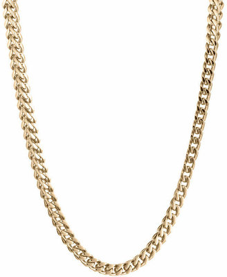 FINE JEWELRY Mens Stainless Steel & Gold-Tone IP 24 4mm Foxtail Necklace