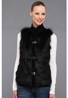 Calvin Klein Faux Fur Acrylic Sweater Vest