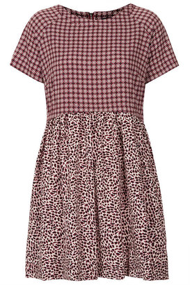 Topshop Animal Tile Mix Tunic Dress